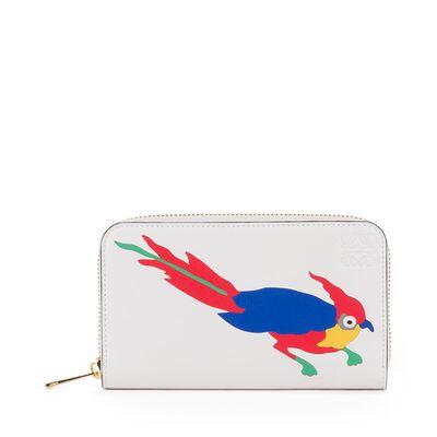 LOEWE Paulas Ibiza Medium Zip Around White/Multicolor front