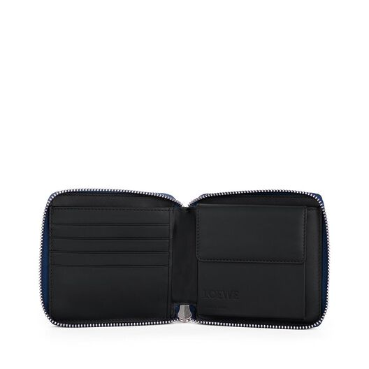 LOEWE Puzzle Small Wallet Navy Blue all