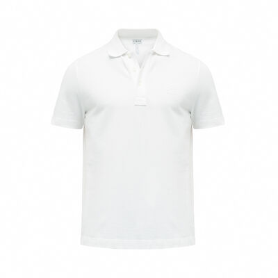 LOEWE Short Sleeve Anagram Polo White Ash front