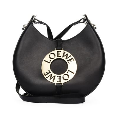 LOEWE Joyce Small Bag black/silver/gold front