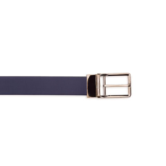 LOEWE Formal Belt 3.2Cm Adj/Rev Navy/Black/Ruthenium all