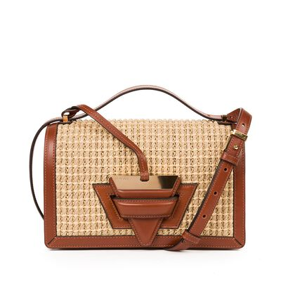 LOEWE Barcelona Raffia Bag Natural/Tan front