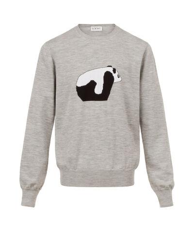 LOEWE Crewneck Sweater Panda Grey front