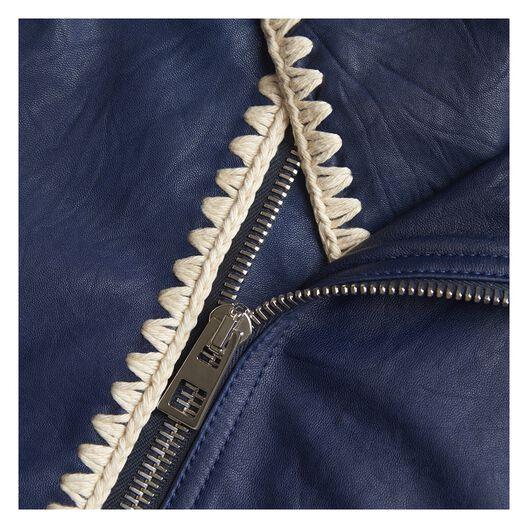 Biker Jacket Crochet Stitching