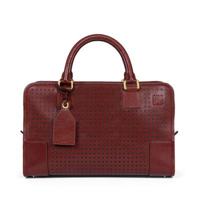 LOEWE Amazona Bag light burgundy/black front