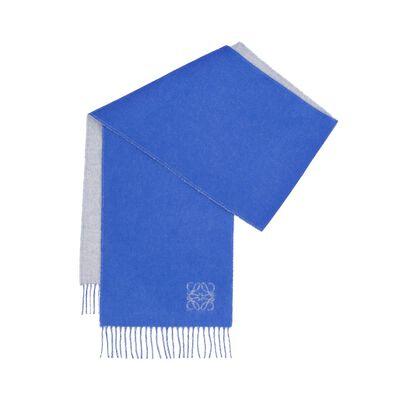 LOEWE 30X180 Anagram Scarf Royal Blue/Light Grey front