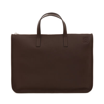 LOEWE Briefcase Brown Chocolate front