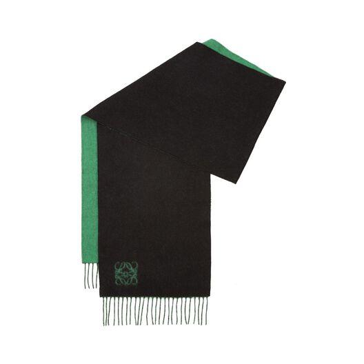 LOEWE 30X180 Anagram Scarf Green/Black all
