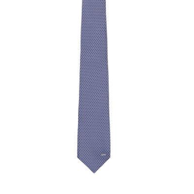 LOEWE 7Cm Circles Tie Blue/Grey front