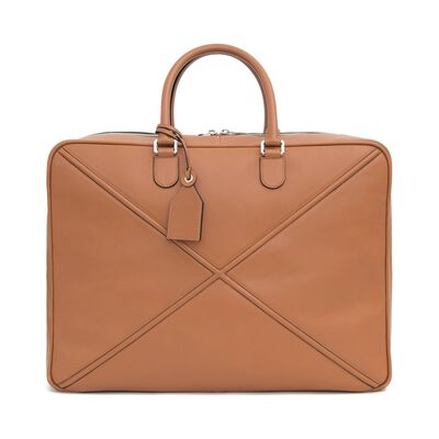 LOEWE Cross Soft Suitcase 55 Tan front