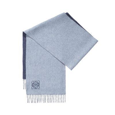 LOEWE 30X180 Bufanda Anagrama Azul Denim/Azul Denim Claro front