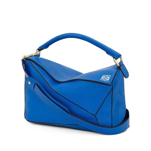 LOEWE Puzzle Bag Electric Blue all