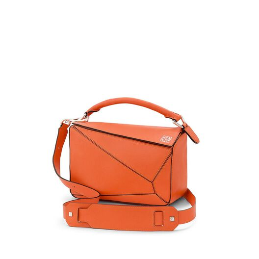 LOEWE Puzzle Small Bag Coral all