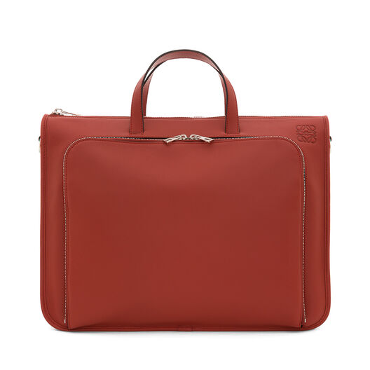 LOEWE Wide Briefcase Rust Red all