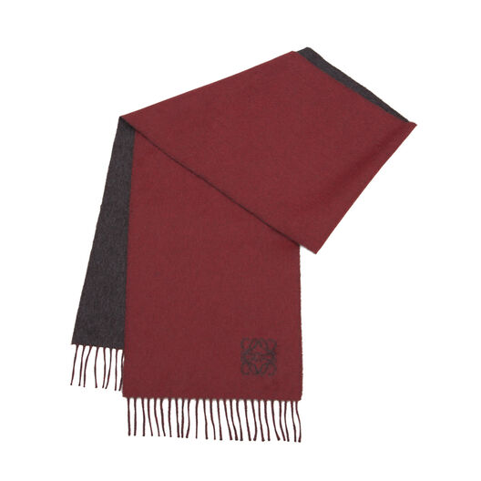 LOEWE 30X180 Anagram Scarf Grey/Red all
