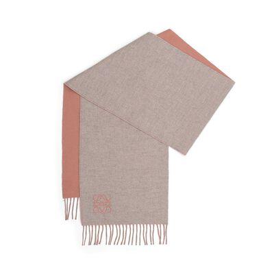 LOEWE 30X180 Anagram Scarf rose/pearl grey front