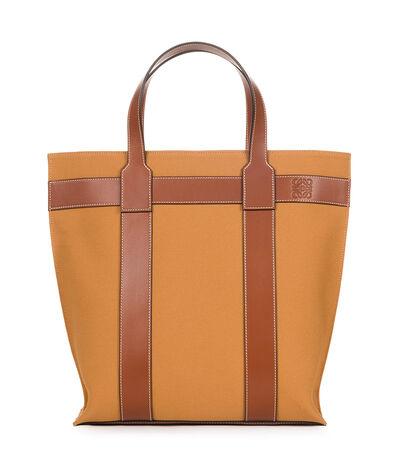 LOEWE Vertical Tote Bag Tan front