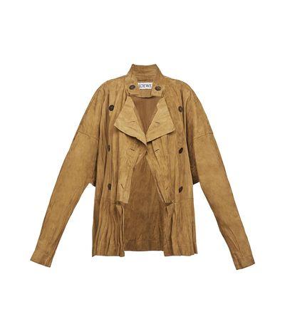 LOEWE Crinkle Jacket Gold front