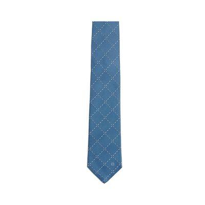 LOEWE 7Cm Stitching Checks Tie Blue front