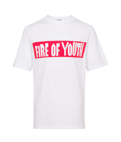 LOEWE T-Shirt Fire Of Youth White front