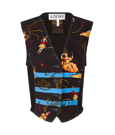 LOEWE Vest Paula Black/Blue front