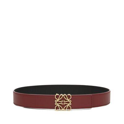 LOEWE Anagram Belt 3.2Cm Brick Red/Black/Gold front