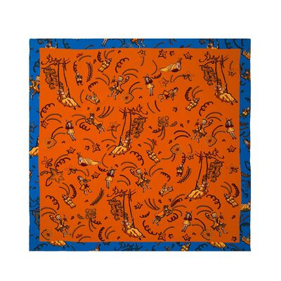 LOEWE 90X90 Paulas Ibiza Scarf Orange front