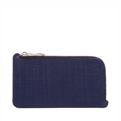 LOEWE Key/Coin Holder Anagram Navy Blue front
