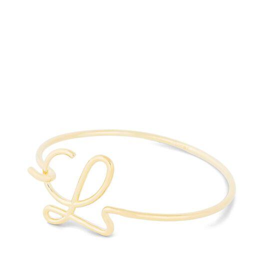 LOEWE L Bracelet Wire Gold all