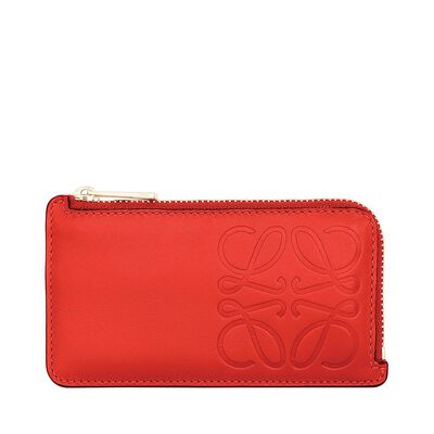 LOEWE Key/Coin Holder Anagram Primary Red front