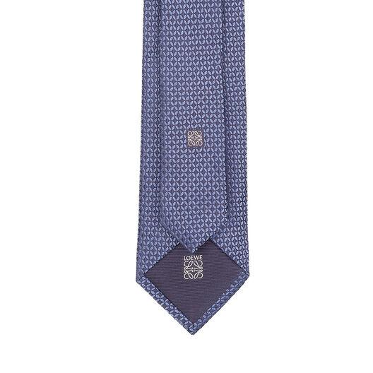 LOEWE 7Cm Circles Tie Blue/Grey all