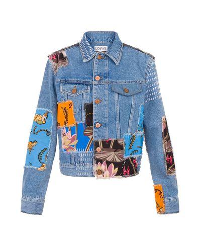 LOEWE Denim Jacket Paula Blue/Multicolour front
