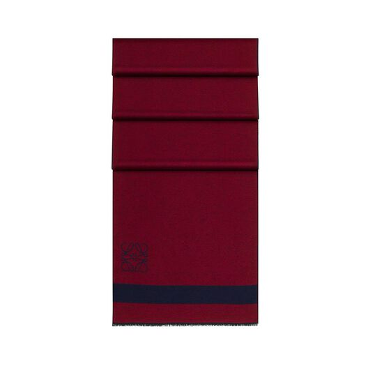 LOEWE 45X200 Stripes Scarf Navy/Red all