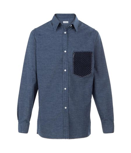 LOEWE Shirt With Patches Indigo all