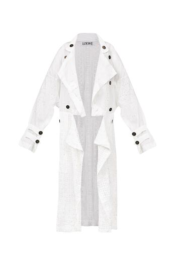 LOEWE Coat Broderie Anglaise White all