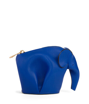 LOEWE Elephant Coin Purse Electric Blue front