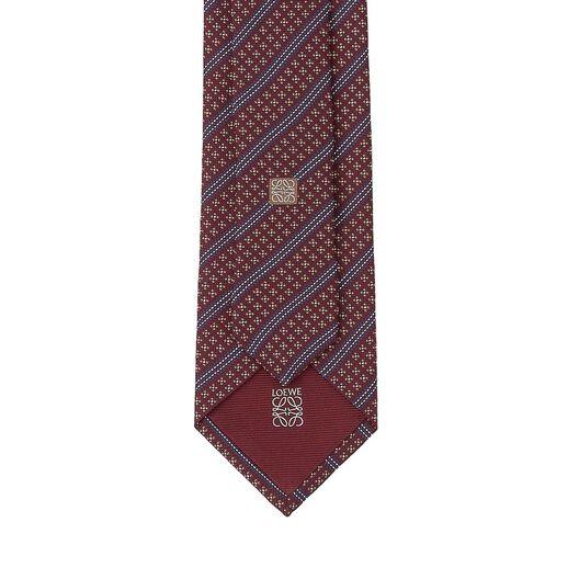 LOEWE 7Cm Corbata Tres Puntos Diagon Rojo all