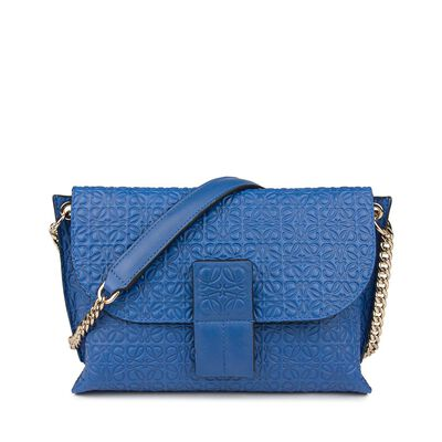 LOEWE Avenue Bag Electric Blue front