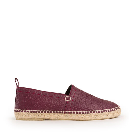 LOEWE Espadrille Repeat Burgundy all