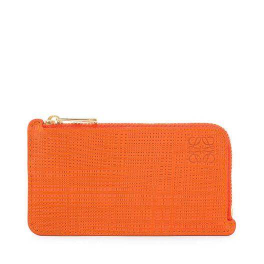 LOEWE Key/Coin Holder Anagram Orange all
