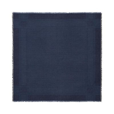 LOEWE 120X120 Kefiyeh Scarf Navy Blue/Black front