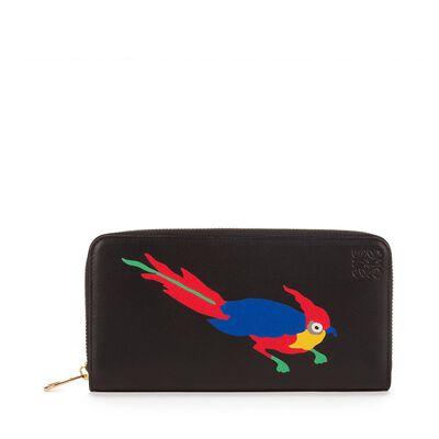 LOEWE Paulas Ibiza Zip Around Wallet Black/Multicolor front