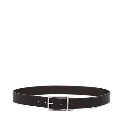 LOEWE Formal Belt 3.2Cm Adj/Rev Black/Dark Brown/Ruthenium front