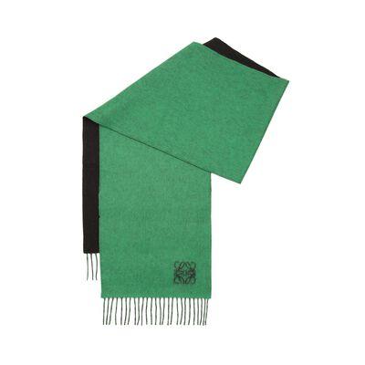 LOEWE 30X180 Anagram Scarf Green/Black front