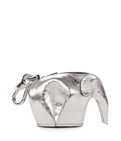 LOEWE Elephant Charm Silver front