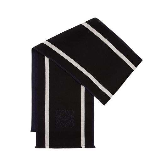 LOEWE 30X200 Anagrama&Stripes Scarf Black/White all