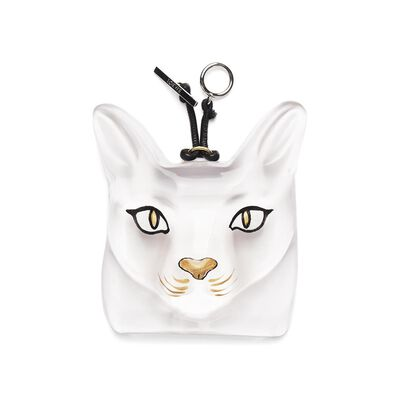 LOEWE Cat Face Charm Transparent front