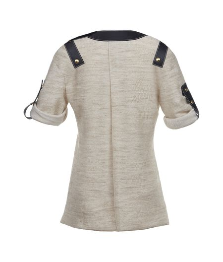 LOEWE Top W/ Leather Inserts Ivory all