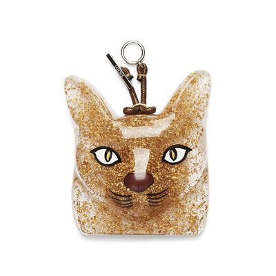 LOEWE Cat Face Charm Gold front