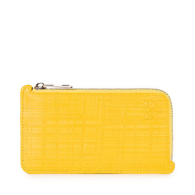 LOEWE Key/Coin Holder Anagram Yellow front